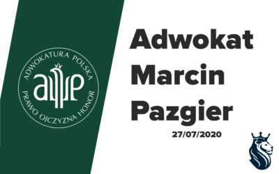 Gratulacje dla adwokata Marcina Pazgiera